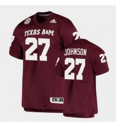 Men Texas A&M Aggies Antonio Johnson Alumni Football Game Maroon Jersey