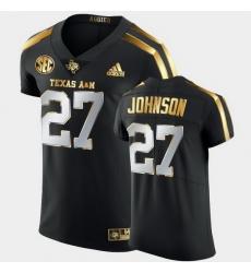 Men Texas A&M Aggies Antonio Johnson Golden Edition Black Authentic Jersey