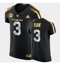 Men Texas A&M Aggies Christian Kirk Golden Edition Black Authentic Jersey