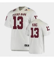 Men Texas A&M Aggies Haynes King 2021 Orange Bowl College Football White Jersey