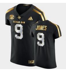 Men Texas A&M Aggies Hezekiah Jones Golden Edition Black Authentic Jersey