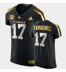 Men Texas A&M Aggies Ryan Tannehill Golden Edition Black Authentic Jersey