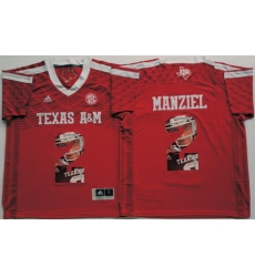 Texas A 26M Aggies 2 Johnny Manziel Red Portrait Number College Jersey