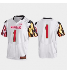 Men Maryland Terrapins 1 White Premier Football Jersey