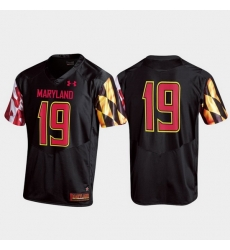 Men Maryland Terrapins 19 Black Replica Jersey