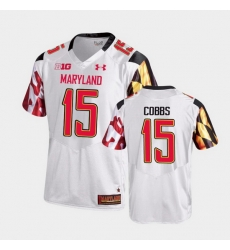 Men Maryland Terrapins Brian Cobbs College Football White Game Jersey