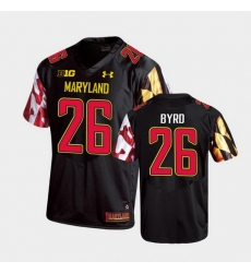 Men Maryland Terrapins Erwin Byrd Replica Black College Football Jersey