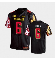 Men Maryland Terrapins Jeshaun Jones Replica Black College Football Jersey