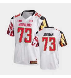 Men Maryland Terrapins Johnny Jordan College Football White Game Jersey