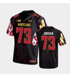 Men Maryland Terrapins Johnny Jordan Replica Black College Football Jersey