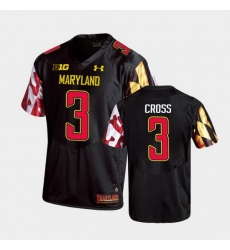 Men Maryland Terrapins Nick Cross Replica Black College Football Jersey