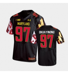 Men Maryland Terrapins Sam Okuayinonu Replica Black College Football Jersey