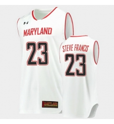 Men Maryland Terrapins Steve Francis Hardwood Classics White Basketball Jersey