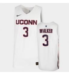 Men Uconn Huskies Megan Walker Replica White 2020 Draft Jersey