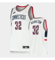Men Uconn Huskies Richard Hamilton Replica White Basketball Jersey
