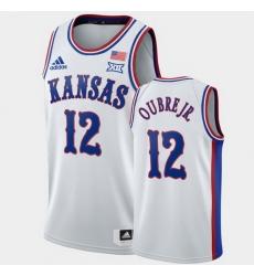 Men Kansas Jayhawks Kelly Oubre Jr. White 1990S Throwback Suns Jersey