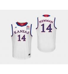 Men Kansas Jayhawks Malik Newman White College Basketball Jersey