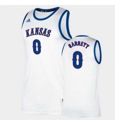 Men Kansas Jayhawks Marcus Garrett Classic White College Basketball Jersey