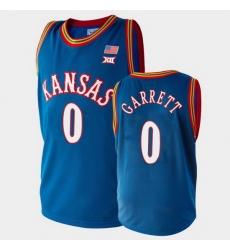 Men Kansas Jayhawks Marcus Garrett College Basketball Royal Jersey