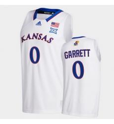 Men Kansas Jayhawks Marcus Garrett College Basketball White New Season 2020 21 Jersey