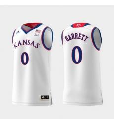 Men Kansas Jayhawks Marcus Garrett White Replica College Basketball Jersey