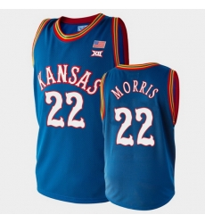 Men Kansas Jayhawks Marcus Morris College Basketball Royal Clippers Jersey