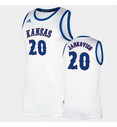 Men Kansas Jayhawks Michael Jankovich Classic White College Basketball Jersey