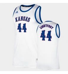 Men Kansas Jayhawks Mitch Lightfoot Classic White College Basketball Jersey
