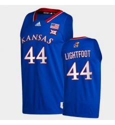 Men Kansas Jayhawks Mitch Lightfoot College Basketball Royal New Season 2020 21 Jersey
