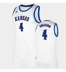 Men Kansas Jayhawks Nick Collison Classic White College Basketball Jersey
