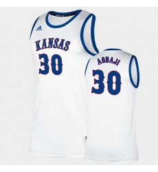 Men Kansas Jayhawks Ochai Agbaji Classic White College Basketball Jersey