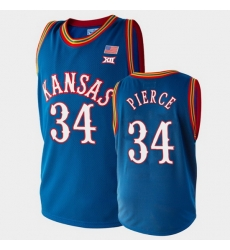 Men Kansas Jayhawks Paul Pierce College Basketball Royal Retired Player Jersey