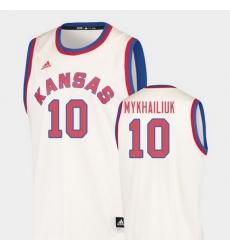 Men Kansas Jayhawks Sviatoslav Mykhailiuk Cream Hardwood Classics College Basketball Jersey