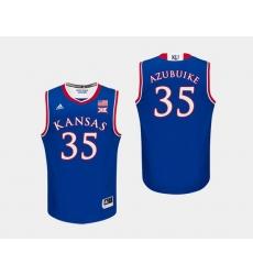 Men Kansas Jayhawks Udoka Azubuike Royal College Basketball Jersey