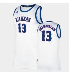 Men Kansas Jayhawks Wilt Chamberlain Classic White College Basketball Jersey
