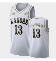 Men Kansas Jayhawks Wilt Chamberlain Golden Limited White Retired Player Jersey