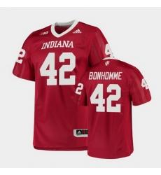 Men Indiana Hoosiers D.K. Bonhomme College Football Crimson Game Jersey