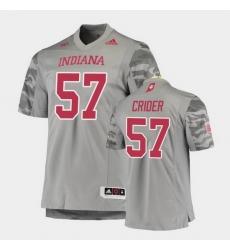 Men Indiana Hoosiers Harry Crider Premier Gray Football Jersey