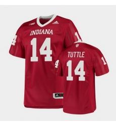 Men Indiana Hoosiers Jack Tuttle College Football Crimson Game Jersey