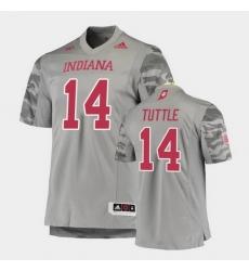 Men Indiana Hoosiers Jack Tuttle Premier Gray Football Jersey