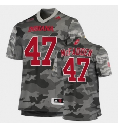 Men Indiana Hoosiers Micah Mcfadden College Football Gray Salute To Service Jersey