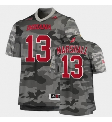 Men Indiana Hoosiers Miles Marshall College Football Gray Salute To Service Jersey