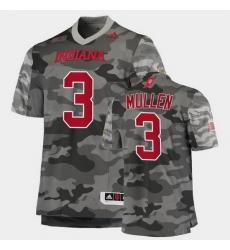 Men Indiana Hoosiers Tiawan Mullen College Football Gray Salute To Service Jersey