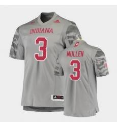 Men Indiana Hoosiers Tiawan Mullen Premier Gray Football Jersey