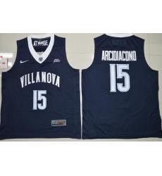 Villanova Wildcats Ryan Arcidiacono 15 College Basketball Jersey  Navy