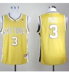 Wake Forest Demon Deacons Chris Paul 3 Golden College Basketball Jersey