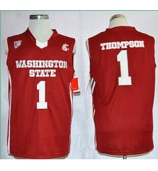 Washington State Cougars Klay Thompson 1 College Basketball Jersey  Red