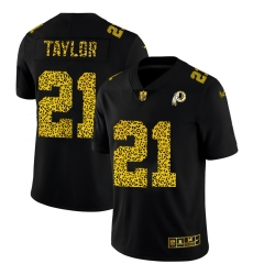 Washington Redskins 21 Sean Taylor Men Nike Leopard Print Fashion Vapor Limited NFL Jersey Black
