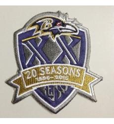 1996-2015 Patch 20Th Seasons Anniversarys Baltimore Ravens Patch