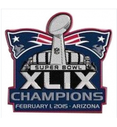 Stitched 2015 NFL Super Bowl XLIX 49 Champions New England Patriots Jersey Patch In Arizona